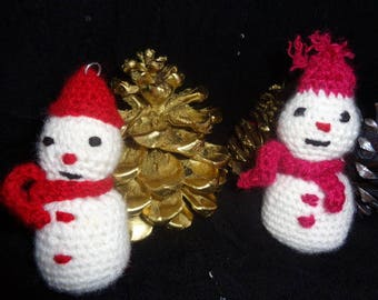 Christmas decoration hanging snowman