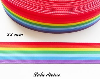 Ribbon grosgrain bow in sky of 22 mm sold by 50 cm