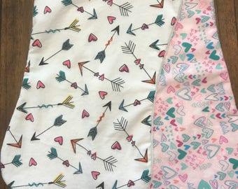 Hearts and Arrows Burp Cloths