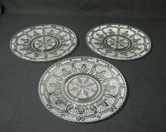 "Heritage Pattern 8"" Luncheon Plates. Set of 3"