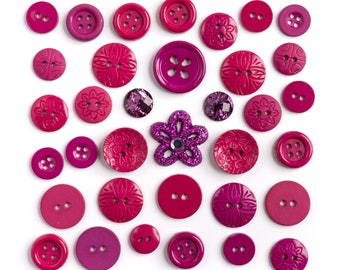 Buttons decorative Fruits - assortment of button sewing red berry - red embellishment decor sewing button