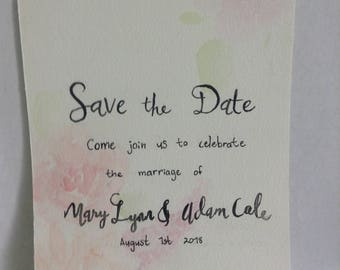 Custom Watercolor Wedding Invites