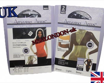 NEW 2Pc Slimmer Thinner Amazing Arms From Flab To Fab Lightweight Wrap Armwear