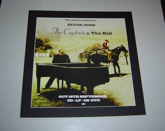 Elton John The Captain 7 & The Kid   Original  Poster in A Custom Made Mount Ready To Frame