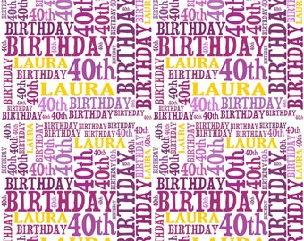Personalised Birthday Gift Wrap With Own Name