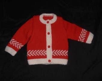 knitted vest for girl handmade