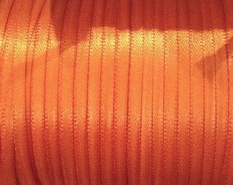 1 meter Ribbon satin 4 mm orange ❤ ❤