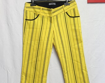 Original yellow striped pants black
