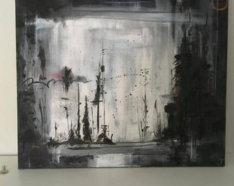 Dark forest- Acrylic Painting 20 x 24""