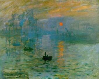 SET of TABLE semi-rigid ORIGINAL AESTHETIC WASHABLE and durable - Impressionist painters - Claude Monet - Impression, Sunrise