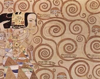ORIGINAL design, durable and WASHABLE PLACEMAT - Gustav Klimt - the wait - classic.
