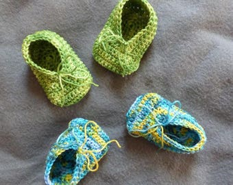 unearthed booties crocheted in 100% cotton