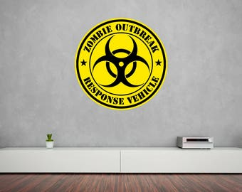 Zombie Outbreak Vinyl Wall Decal