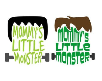 Mommy's Little Monster Halloween Cuttable SVG PNG DXF & eps Designs Cameo File Silhouette