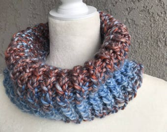 Handmade Knitted Circle / Infinity Scarf Item #3003