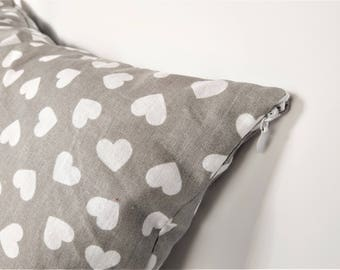 Small decorative pillow with heart