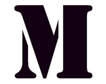 Fusible pattern stencil - M letter