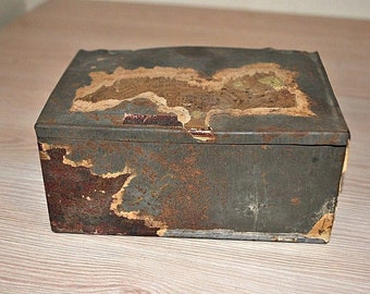 Antique Antique Imperial Russia Kiev Ukraine tobacco tin box