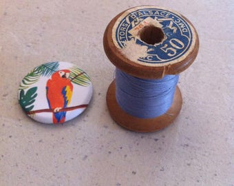 Old wooden thread spool