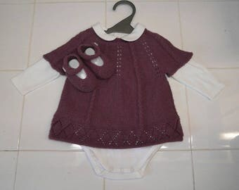 Set includes tunic, Bodysuit and pair of booties