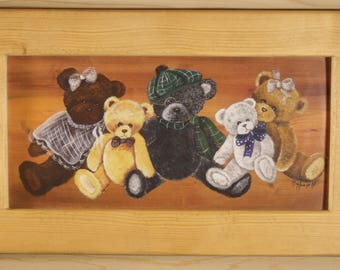 FRAME WOOD WAX PAINT BEARS
