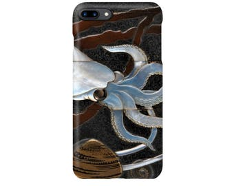 "Original sheep playing Shinsaibashi squid shell lacquer INRO iPhone case Hara Yoyusai ""Squid Maie Inrou"" iPhone Case iPhone5 iPhone6 iPhone7 iPhoneSE"