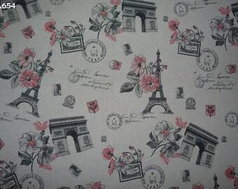 Fabric C654 Paris coupon 50x70cm