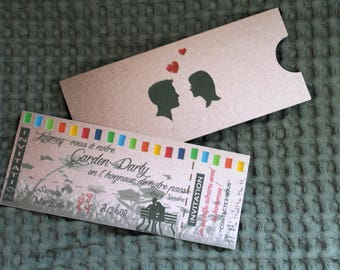 Invitation, country themed garden party invitations.