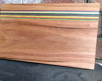 Recycled Skateboard and Hardwood Cutting Board