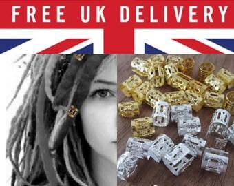 10 Adjustable Hair Cuff/Bead for Dreadlocks Box braids cornrows and plaits