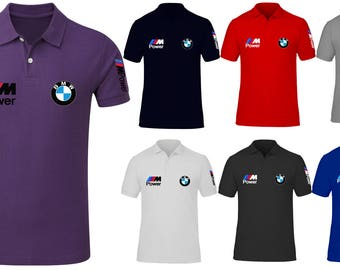 Men's BMW  Power Beamer Motorsport High Quality Polo Neck T Shirts