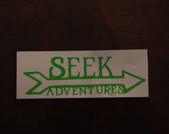 Vinyl Decal Sticker //Seek Adventures//