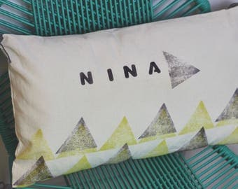 Hand printed cushion cover <3