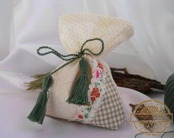 Lavender, mint, pine, white and gray sachet aroma bag, of natural fabric, linen, fragrant sachet, handmade, bag with herbs, gift bag, eco