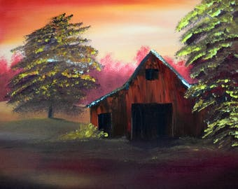 Fall in the Country Oil Painting