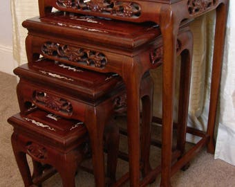 Oriental Rosewood Nest of Tables