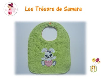 GIRL EASTER COTTON AND TERRY BIB
