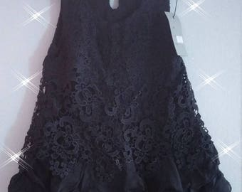Black evening or wedding or party dress