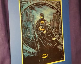 Tim Burton's Batman mounted poster