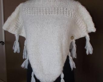 Pullover Poncho handknitted Alpaca/Merino (4)