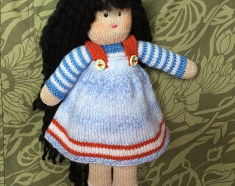 Hand knitted doll Tilly