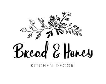 Black Floral Logo, Simple Logo, Logos, Blog, Handwritten Logo, Small Business Logo, Business Logo, Premade Logos, Logo Design, No. 28