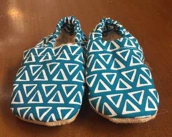 Teal Triangle Bootie