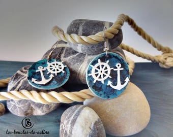 Earrings: anchors, rudders and marines