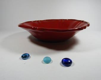 Glazed terra-cotta red Bowl