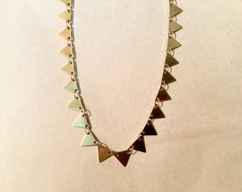 Fancy chain triangle sequin 7x6mm raw brass for creations of jewels