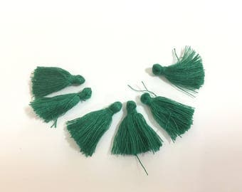 50 cotton PomPoms unattached green 25mm for jewelry designs