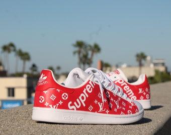 Custom Adidas Stan Smith - Supreme x LV
