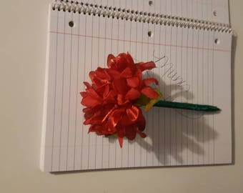 Flower pen/Mum/special occasions/Signing pen/bright red in color/Guest Book pen
