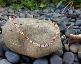 Bead link necklace